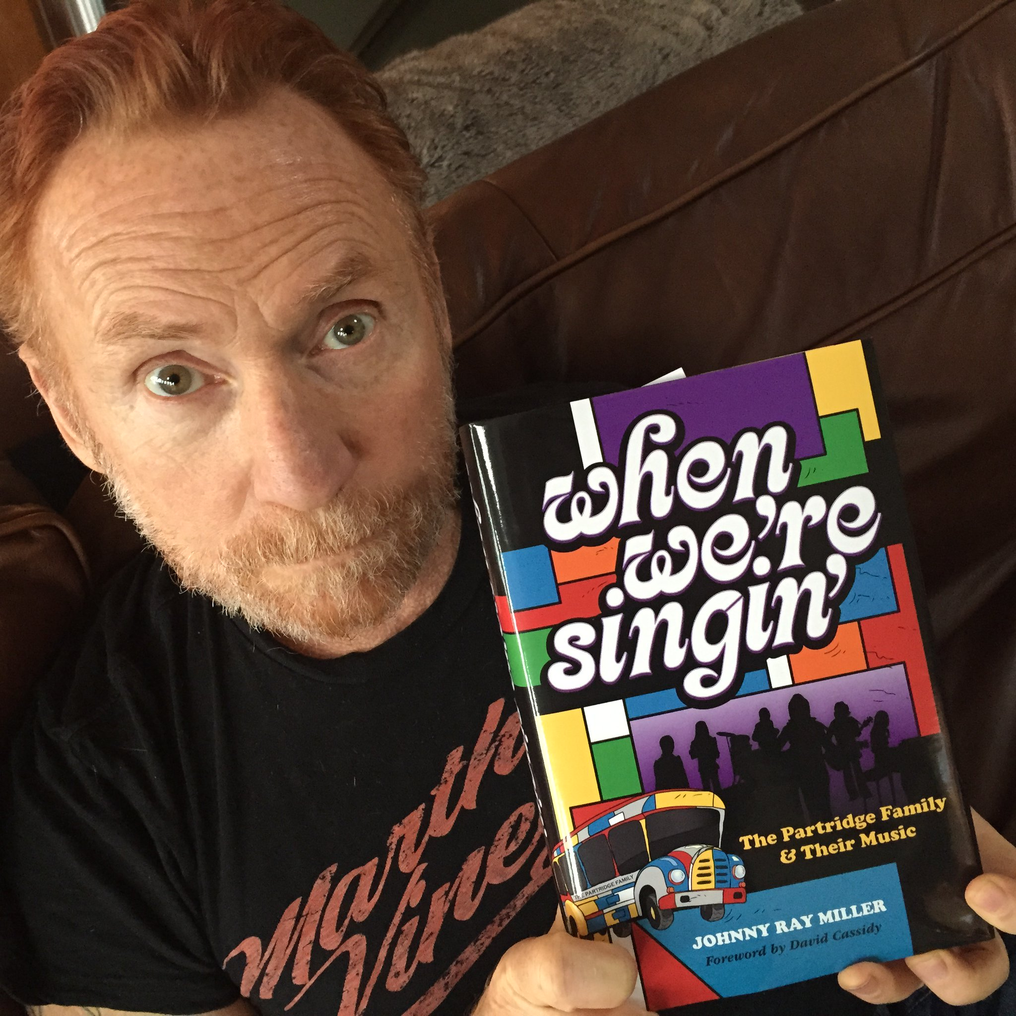 Danny Bonaduce with new Partridge Family book available at Music To My Ear at 3003 Babcock Blvd. in Pittsburgh, PA