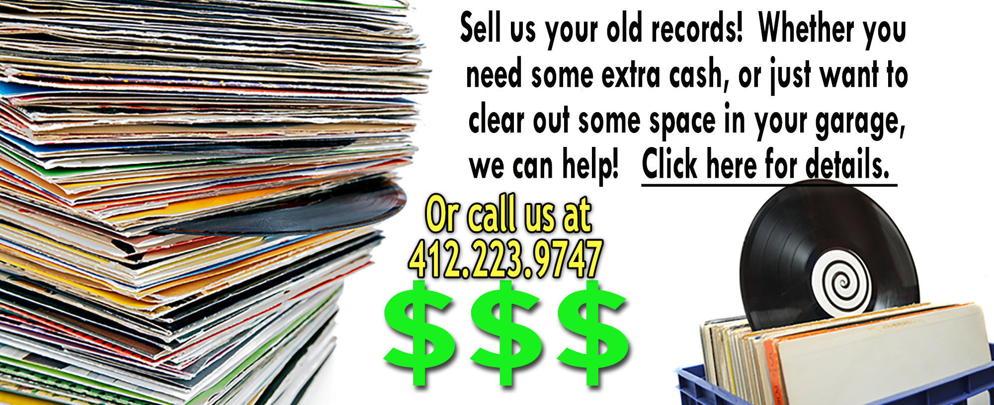 We Buy And Sell Vinyl Records in Pittsburgh