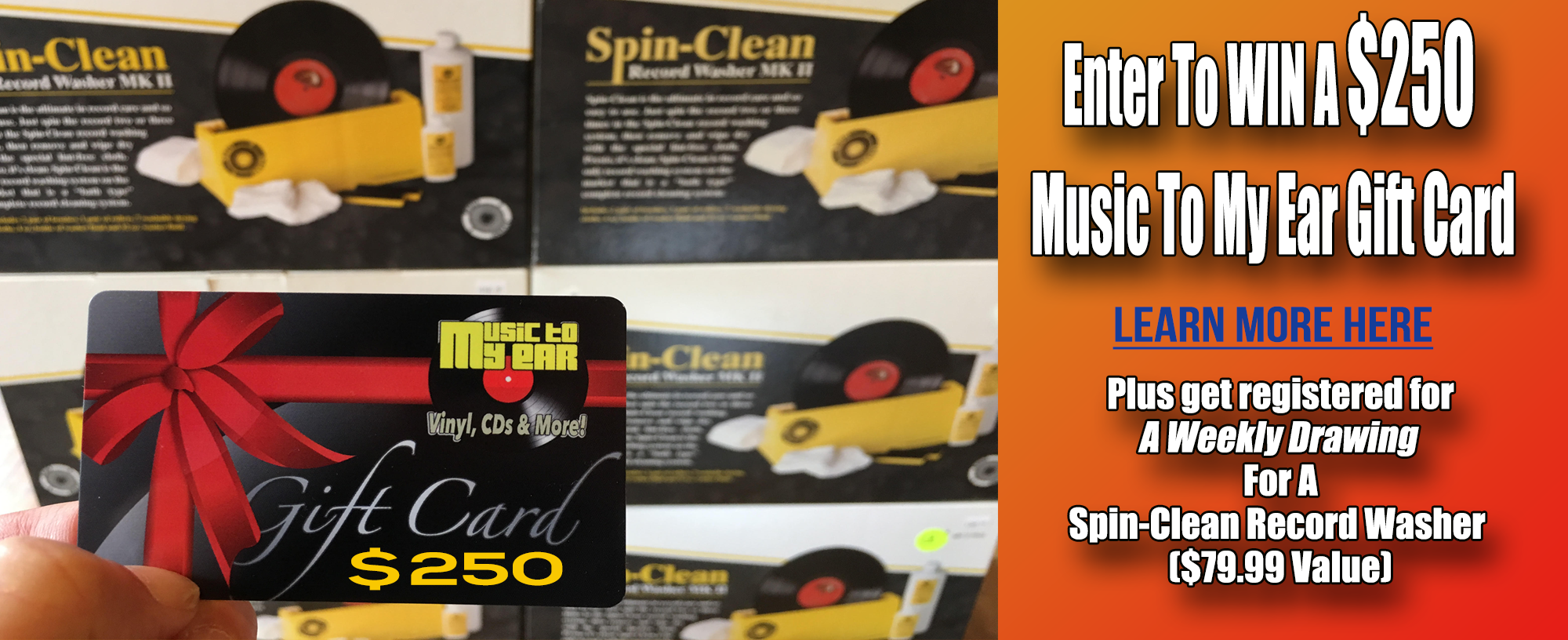 Enter To Win A Spin-Clean Record Washer and a $250 Music To My Ear Gift Card