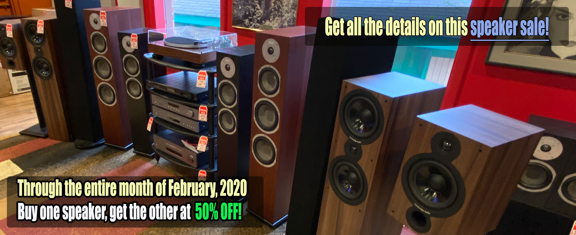 Cambridge Audio, KLH, Harbeth, and GoldenEar Technology Speakers for sale at 3003 Babcock Blvd.