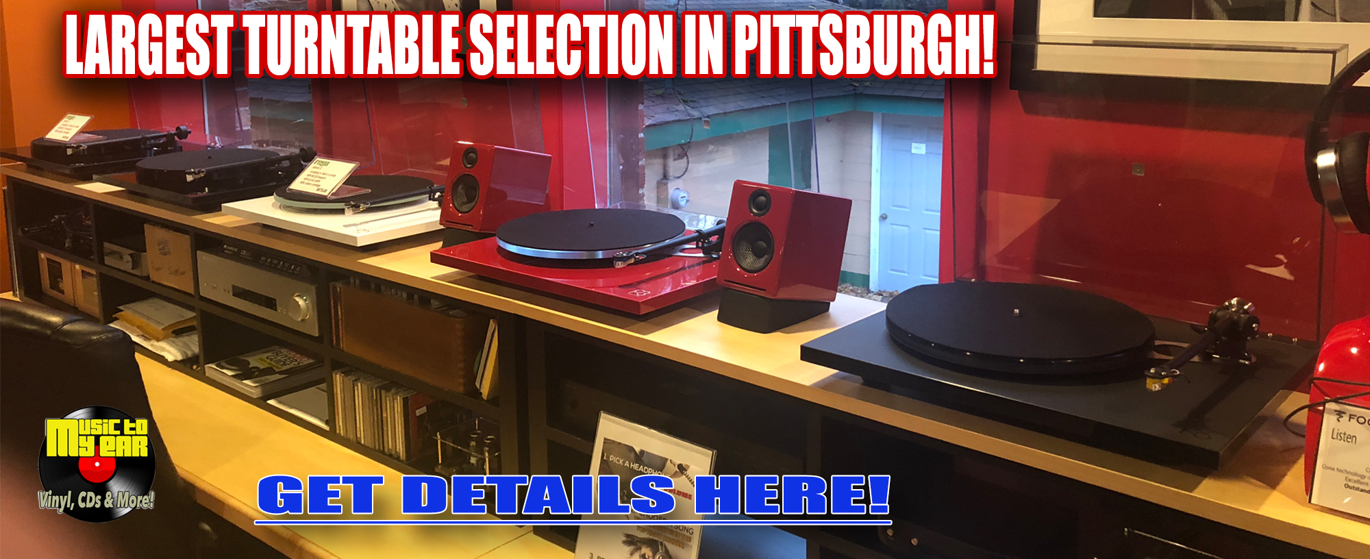 Largest Turntable Selection In Pittsburgh